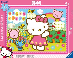 Hello Kitty auf dem Jahrmarkt. Rahmenpuzzle 31 Teile