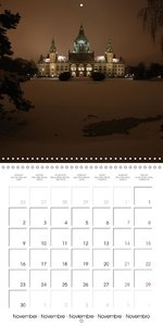 Hanover by night (Wall Calendar 2015 300 × 300 mm Square)