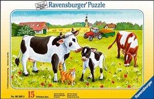 Auf der Kuhweide - Rahmenpuzzle 15 Teile