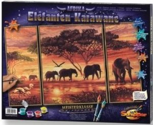 Schipper 609260455 - Elefanten Karawane, MNZ, Malen nach Zahlen