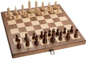 Philos 2626 - Schachkassette Walnuss, groß, Feld 42 mm, Königshö