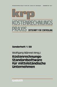 Kostenrechnungs-Standardsoftware für mittelständische Unternehme