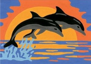 Delfinromantik. Malen nach Zahlen®
