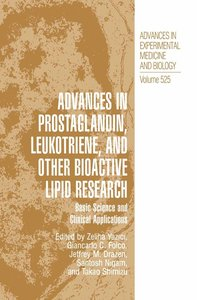 Advances in Prostaglandin, Leukotriene, and other Bioactive Lipi
