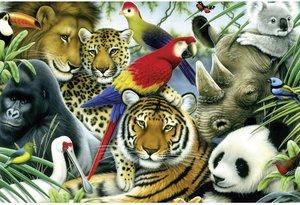 Schmidt Spiele 56103 - Im Dschungel, Kinderpuzzle Standard, 60 T