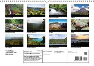 Costa Rica Volcanoes and Rainforest (Wall Calendar 2015 DIN A3 L
