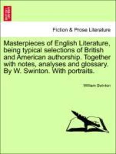 Masterpieces of English Literature, being typical selections of