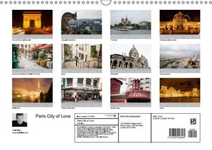 Paris City of Love (Wall Calendar 2015 DIN A3 Landscape)