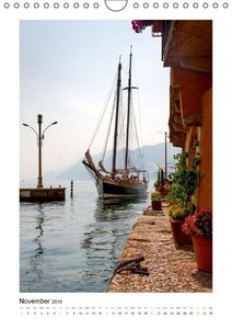 Lake Garda / UK-Version (Wall Calendar 2015 DIN A4 Portrait)