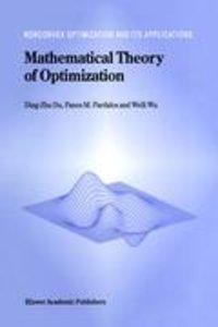 Mathematical Theory of Optimization