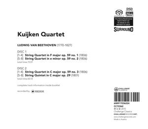 Streichquartette op.59,String Quintet op.29 - zum Schließen ins Bild klicken