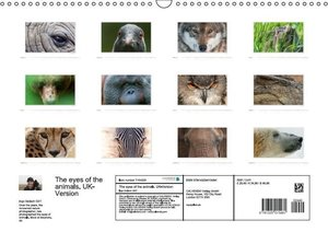 Emotional Moments: The eyes of the animals. UK-Version (Wall Cal
