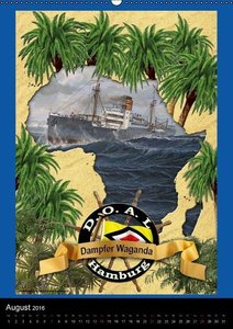 Deutsche Handelsschiffe vor 1945 (Wandkalender 2016 DIN A2 hoch)