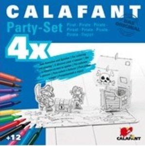 Calafant G2614X - Party-Set: Piraten, 4er Sets