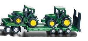 SIKU 1837 - Tieflader mit 2 John Deere Traktoren