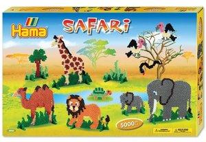 Hama 3032 - Geschenkpackung Safari, circa 5000 Bügelperlen und 4