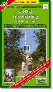 Gotha, Inselsberg und Umgebung 1 : 35 000