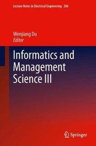 Informatics and Management Science III