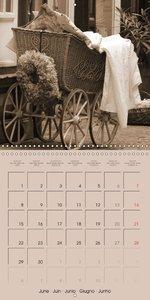 classic retro sepia (Wall Calendar 2015 300 × 300 mm Square)