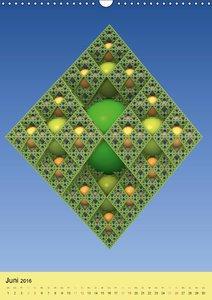 Fraktale Geometrie (Wandkalender 2016 DIN A3 hoch)