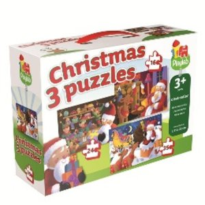 """Playlab 3in1 Puzzle """"Weihnachten"""" 16/24/35 Teile"""