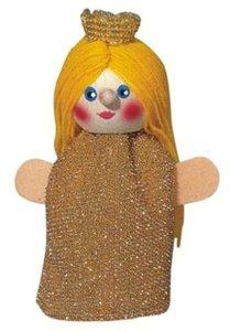 Kersa Fipu 40130 - Handpuppen Prinzessin, 10cm