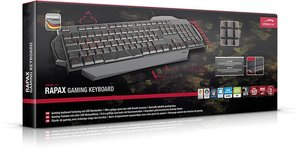 RAPAX Gaming Keyboard, schwarz