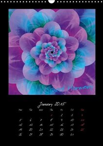 Digital Flowers/UK Version (Wall Calendar 2015 DIN A3 Portrait)