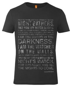 Shirt - Game of Thrones: Nights Watch Oath - Black - Gr. M