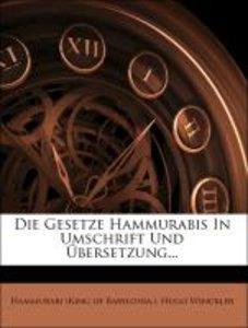 Die Gesetze Hammurabis In Umschrift Und Übersetzung...