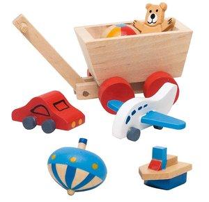 Goki 51938 - Accessoires Kinderzimmer für Puppenhaus, 7 teilig