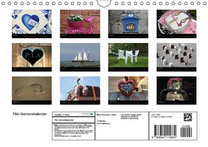 PIA- Namenskalender (Wandkalender 2016 DIN A4 quer)