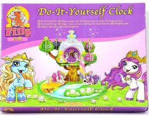 United Labels 0118907 - Filly Pony: Uhr zum Selbstbasteln