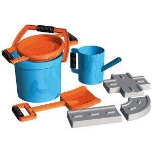 Simm 05442 - Lena: Sandset Straßenbau blau/orange, 7tlg.