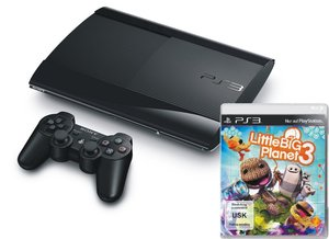 PlayStation 3 Konsole - 12 GB - Schwarz inkl. Little Big Planet
