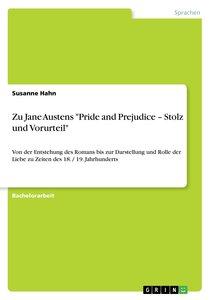 Jane Austens 'Pride and Prejudice - Stolz und Vorurteil'