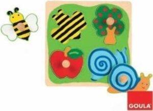 Holzpuzzle Biene, Apfelbaum und Schnecke