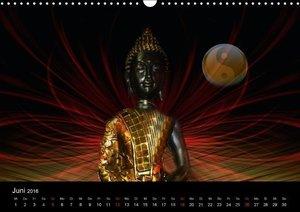 Buddha und Yin Yang (Wandkalender 2016 DIN A3 quer)