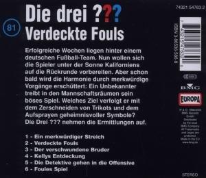 Die drei ??? 081. Verdeckte Fouls. (drei Fragezeichen). CD