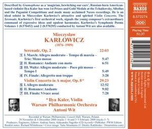 Serenade op.2/Violinkonzert A-Dur