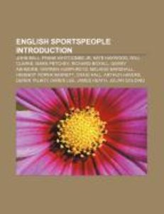 English sportspeople Introduction