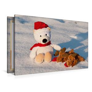 Premium Textil-Leinwand 120 cm x 80 cm quer Frohe Weihnachten -