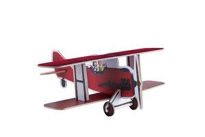 Hape 824713 - Der kleine Prinz Flugzeug, aus Pappe