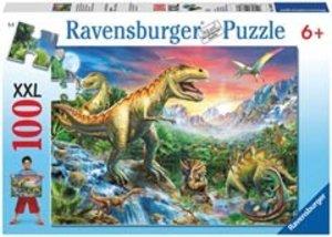 Bei den Dinosauriern. Puzzle 100 Teile XXL