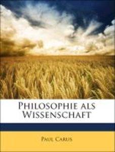Philosophie als Wissenschaft