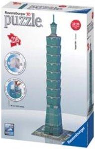 Ravensburger 12558 - Taipei 101, 3D Puzzle-Bauwerke, 216 Teile