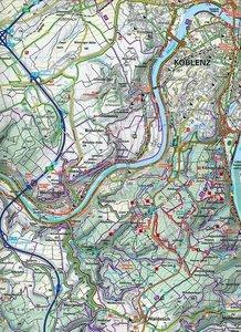 KuF Deutschland Outdoorkarte 32 Oberer Mittelrhein, Koblenz bis