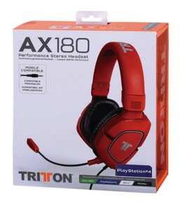 TRITTON® AX 180 Gamer-Headset Stereo, rot
