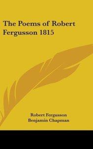 The Poems of Robert Fergusson 1815