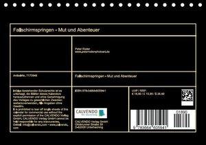 Fallschirmspringen - Mut und Abenteuer (Tischkalender 2016 DIN A
